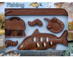 Novelty Luxury Belgian Chocolate Fishing Set