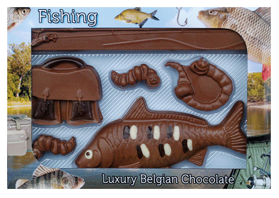 Novelty Luxury Belgian Chocolate Fishing Set featured image