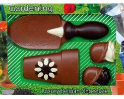 Novelty Luxury Belgian Chocolate Garden Set