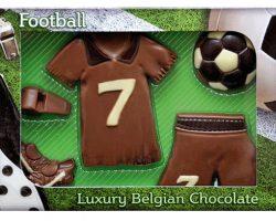 Novelty Luxury Belgian Chocolate Football Kit