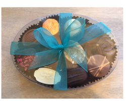 Assortment of Belgian Chocolates in oval cello